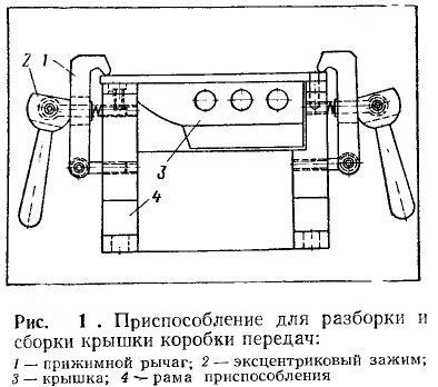 Приспособление для разборки и сборки крышки коробки передач