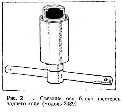Съемник оси блока шестерен заднего хода (модель 2489)