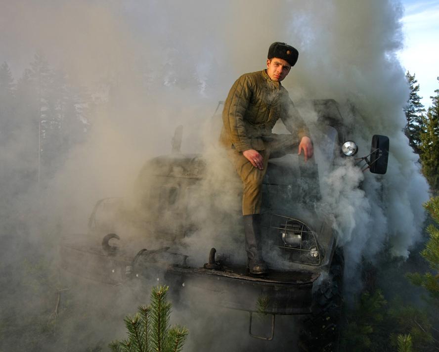 Портрет хозяина дымящего авто 8).