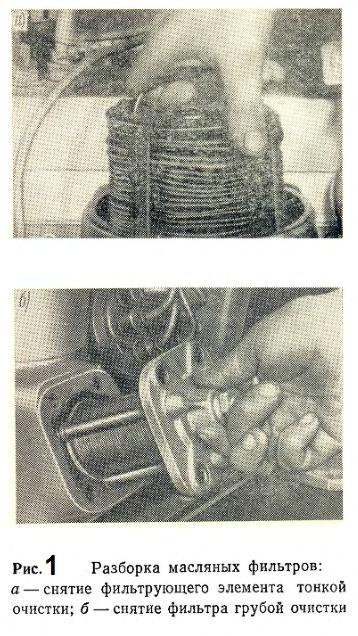 Разборка масляных фильтров