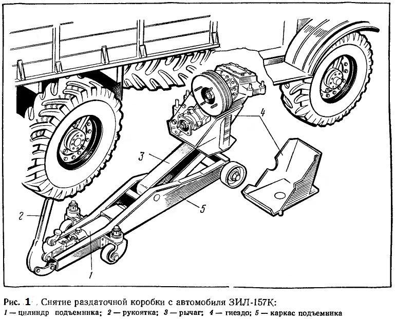 Снятие раздаточной коробки ЗИЛ-157К