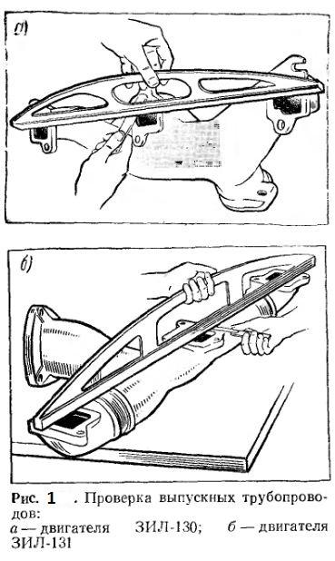 Проверка выпускных трубопроводов