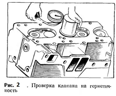 Проверка клапана на герметичность