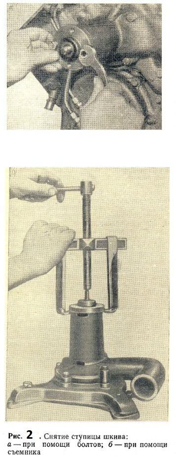 Снятие ступицы шкива