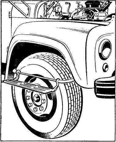 Установка подножки на переднее колесо ЗИЛ 130