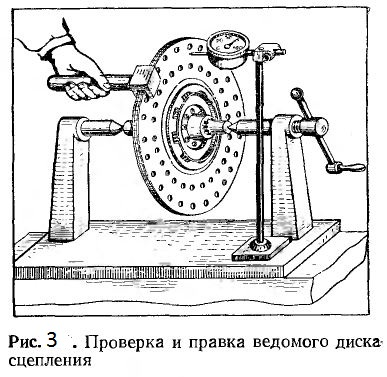 Проверка и правка ведомого диска сцепления